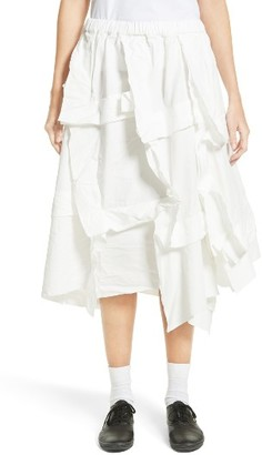 Women's Comme Des Garcons Layered Twill Skirt $1,080 thestylecure.com
