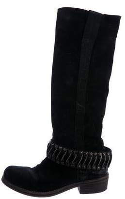 Barneys New York Barney's New York Embellished Knee-High Boots