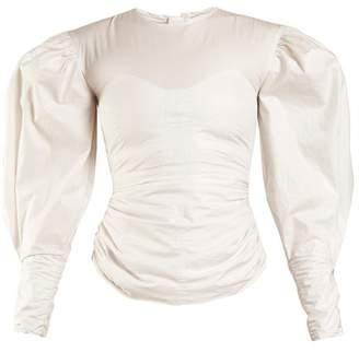 Isabel Marant - Maya Puff Sleeved Top - Womens - White