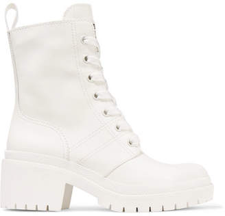 Marc Jacobs Bristol Glossed-leather Ankle Boots - White
