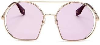 Marc Jacobs Women's Brow Bar Round Sunglasses, 56mm