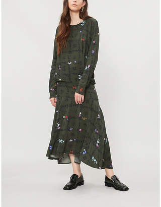 Preen Line Rowan printed crepe midi dress