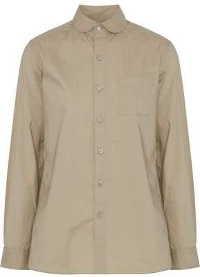Y-3 + Adidas Neon Jersey-Paneled Cotton-Poplin Shirt