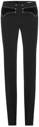Roberto Cavalli Bootcut Pants with Stud Embellishment