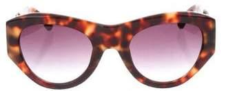 Dries Van Noten Linda Farrow x Tortoiseshell Tinted Sunglasses w/ Tags