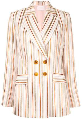 Peter Pilotto metallic stripe blazer