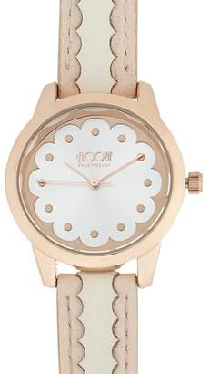 Floozie by Frost French Ladies Silver And Gold Plated Scalloped Detail Watch
