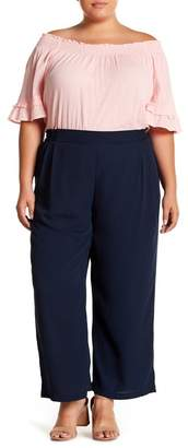 Joe Fresh Wide Leg Crepe Crop Trousers (Plus Size)