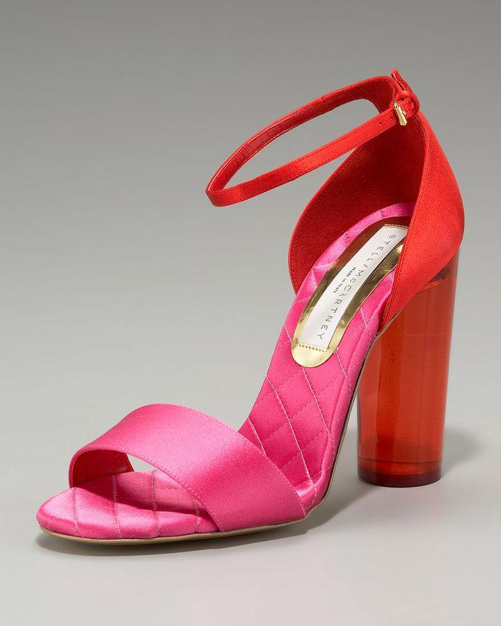 Stella McCartney Acrylic-Heel Colorblock Sandal