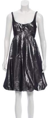 Carmen Marc Valvo Metallic Bubble Dress