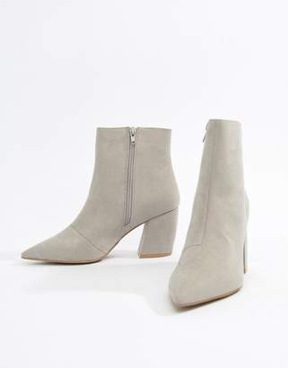 Qupid Block Heeled Ankle Boots