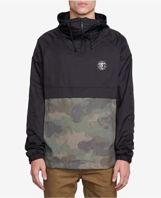 Volcom Men's Colorblocked Camo Hooded Jacket