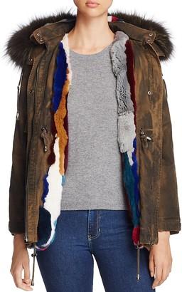 Jocelyn Olive Rabbit Fur & Fox Fur-Trim Parka - 100% Exclusive $995 thestylecure.com