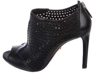 Prada Perforated Leather Booties