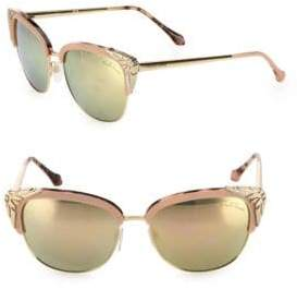 Roberto Cavalli 56MM Cat Eye Mirror Sunglasses
