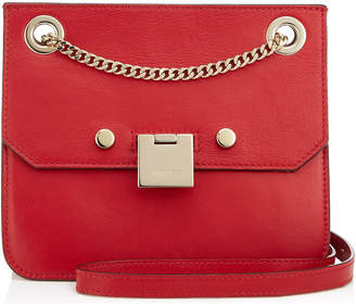 Jimmy Choo REBEL/XB Red and Rosewater Bicolour Leather Cross Body Bag