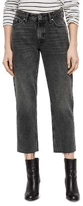 AllSaints Ava Rigid Cropped Straight-Leg Jeans in Vintage Black
