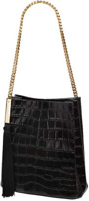 Giuseppe Zanotti Design Croc Embossed Patent Leather Bucket Bag