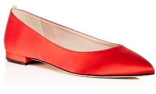 Sarah Jessica Parker Women's Story Satin Pointed Toe Ballet Flats