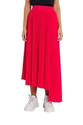 MSGM Long Asymmetrical Pleated Skirt