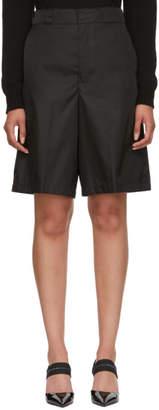 Prada Black Oversized Nylon Shorts