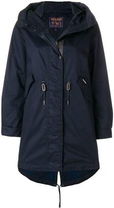 Woolrich zipped parka coat