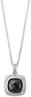 Effy Hematite (9 x 9mm) Pendant Necklace in Sterling Silver