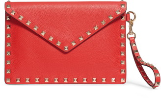 Valentino GARAVANI Medium Rockstud Leather Envelope Pouch