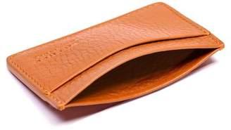 b6bd9561ad8d04 Lotuff Orange Leather Credit Card Wallet