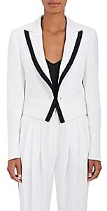 Philosophy di Lorenzo Serafini WOMEN'S CONTRAST-PIPING CADY BLAZER