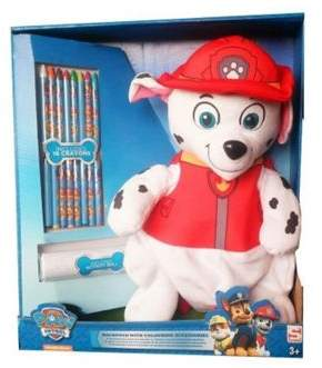 Nickelodeon Character Paw Patrol Marshall With Crayons Plush Backpack