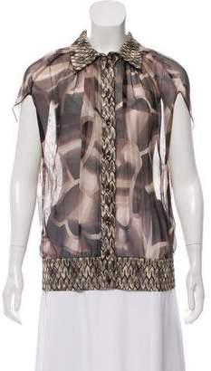 Missoni Printed Short Sleeve Top