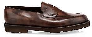 John Lobb Men's Lopez Chunky Leather Penny Loafers