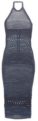 Balmain Knitted cotton-blend dress