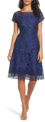 Women's Adrianna Papell Lace Fit & Flare Dress $160 thestylecure.com