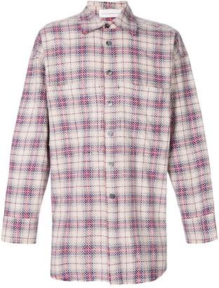 Faith Connexion checked studded oversize shirt