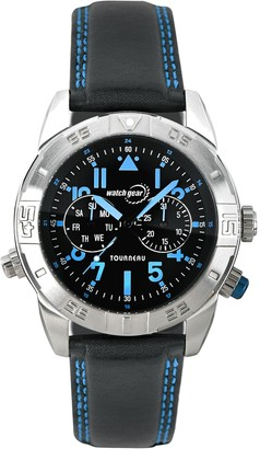Tourneau Men's Stainless Black and Blue Sport Watch