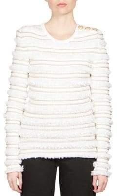 Balmain Metallic Stripe Pullover