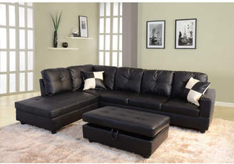 Andover Mills Russ Sectional with Ottoman Upholstery