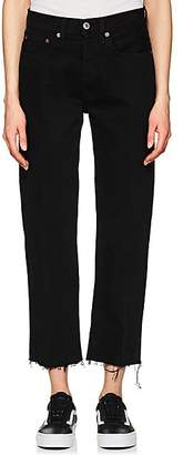 RE/DONE Women's High Rise Stovepipe Crop Jeans - Black