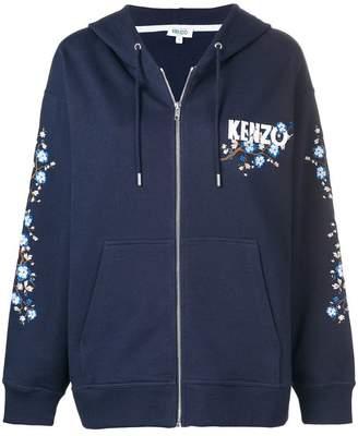 Kenzo Cheongsam Flower zipped hoodie