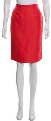 Valentino Silk Knee-Length Skirt Coral Silk Knee-Length Skirt