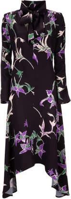 La DoubleJ Martha Printed Crepe De Chine Midi Dress