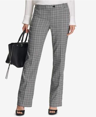 Calvin Klein Petite Straight-Leg Plaid Pants