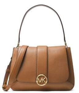 MICHAEL Michael Kors Lillie Flap Leather Top Handle Bag