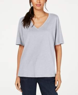 Eileen Fisher Organic Cotton V-Neck T-Shirt, Regular & Petite