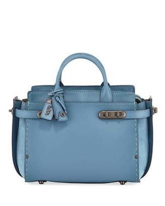 SWAGGER Coach 1941 Mixed-Leather Satchel Bag