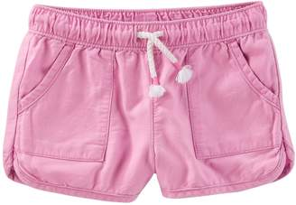 Osh Kosh Oshkosh Bgosh Toddler Girl Pull-On Drapey Twill Shorts