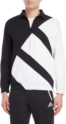 adidas Black Equipment Mesh Logo Jacket