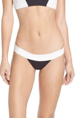 Pilyq Color Block Banded Bikini Bottoms